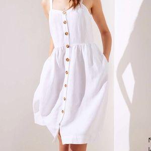 LOFT Button-Down Pocket Flare Dress